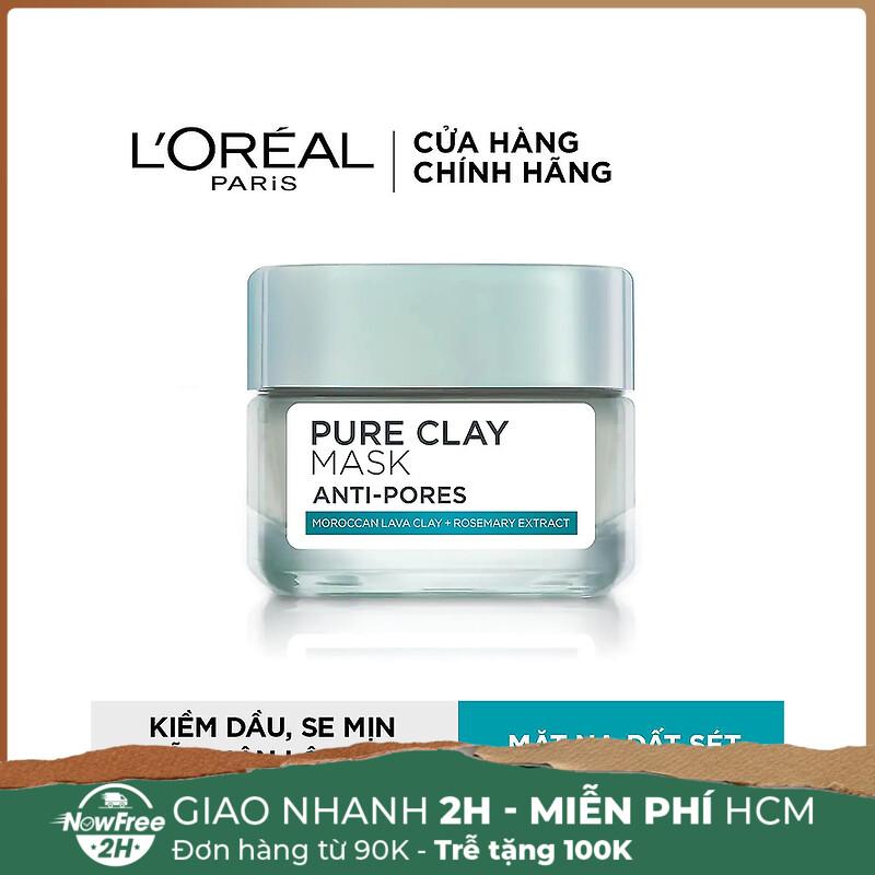 Mặt nạ đất sét L'orealPure Clay Mask Anti-Pores